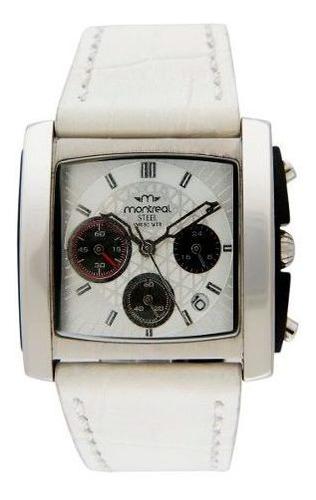 reloj montreal mujer acero cronógrafo ml086 envio gratis
