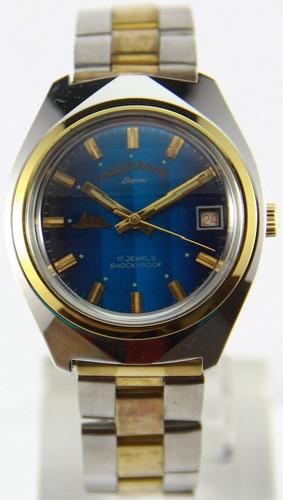 reloj mount royal vintage ´70 nuevos cuerda acero excluisvo