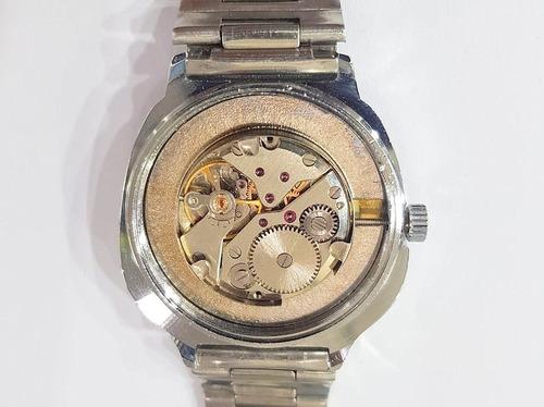 reloj mount royal vintage ´70 nuevos cuerda acero marron gti
