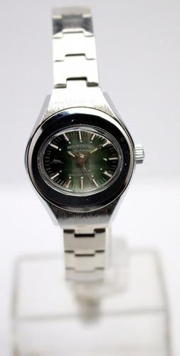 reloj mount royal vintage ´70 nuevos cuerda verde exclusivo