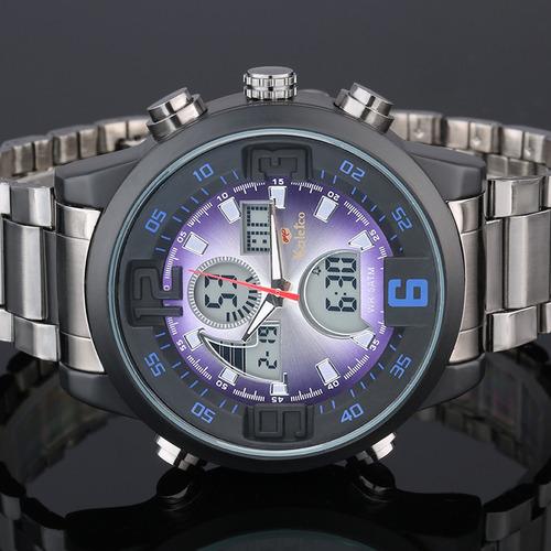 reloj movimiento dual multifuncional hombres