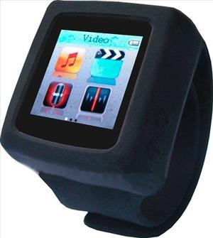 reloj mp4 reproductor silicona 4gb fm mp3 video fotos