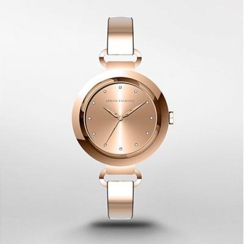 67b97b48864 Reloj Mujer Armani Exchange Ax 4241 Rose Gold Agente Oficial ...