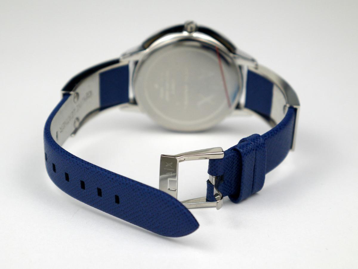 610d7e39de7f reloj mujer armani exchange ax 5318 correa de cuero azul. Cargando zoom.
