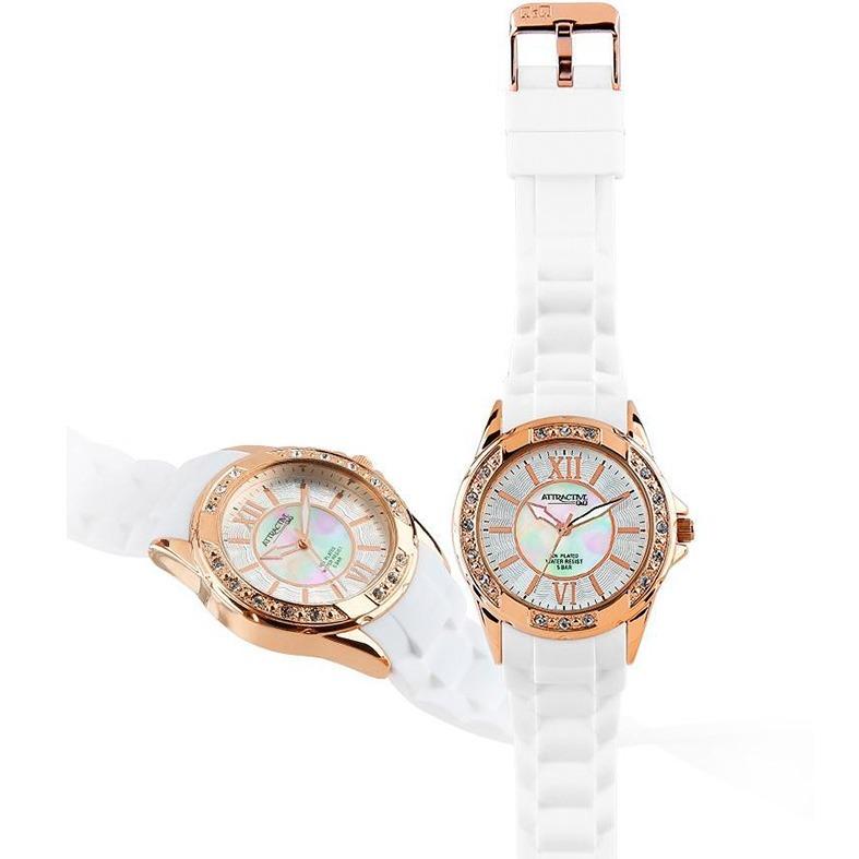 bd8358bb3fc0 Reloj Mujer Blanco Dorado Elegante Casual Attractive Citizen - S  99 ...