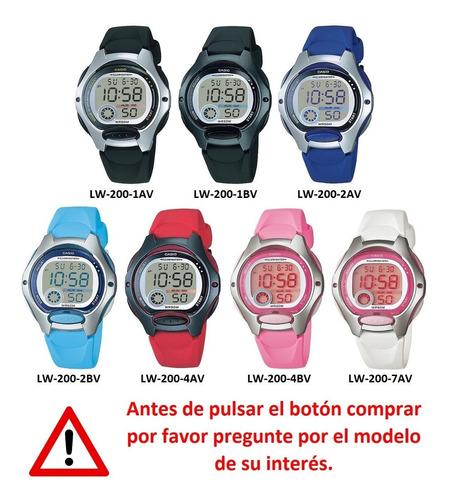reloj mujer casio lw200-2bv pila 10 años original garantia