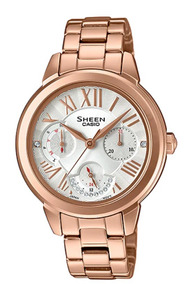 Reloj Mujer Casio Sheen She 3059pg 7audr Agente Oficial