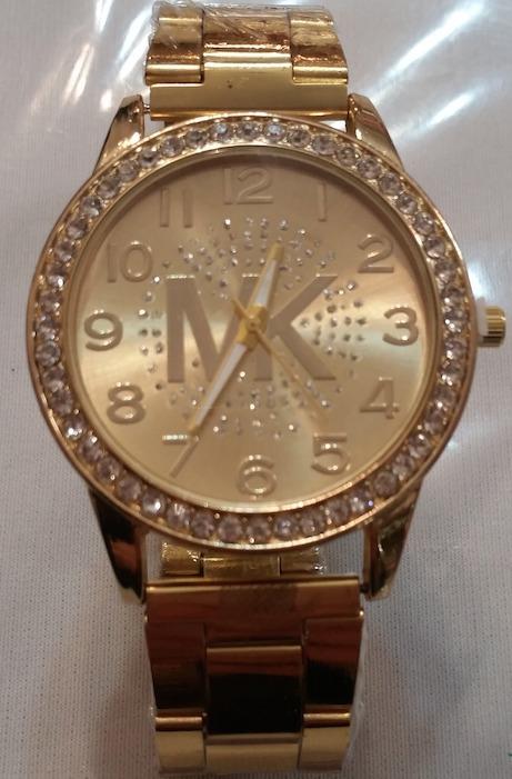 Reloj Mujer Dama Dorado Logo Mk De Moda 219 00 En