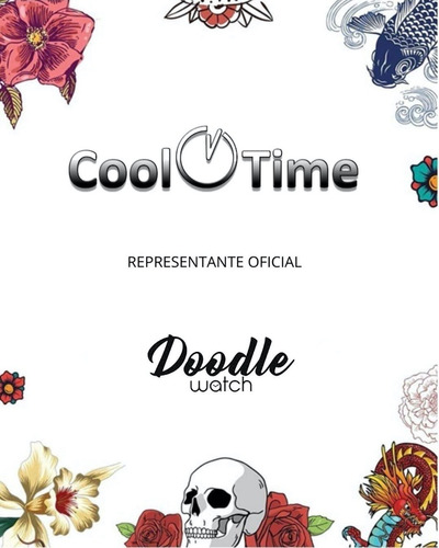 reloj mujer doodle nature mood silicona sumergible 3 atm