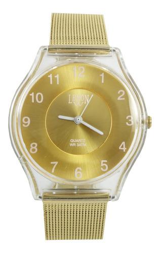 reloj mujer dorado plata rose metal lemon l1518 l1519