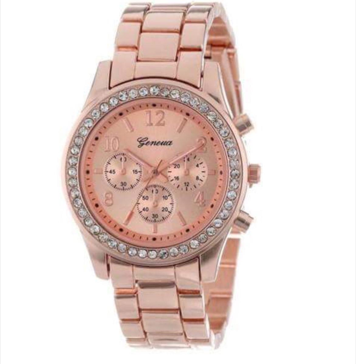 f0ff39dbdc4f reloj mujer esfera con brillantitos color oro rosa nuevo. Cargando zoom.