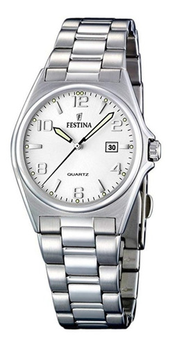 reloj mujer festina clásico de acero con calendario f16375