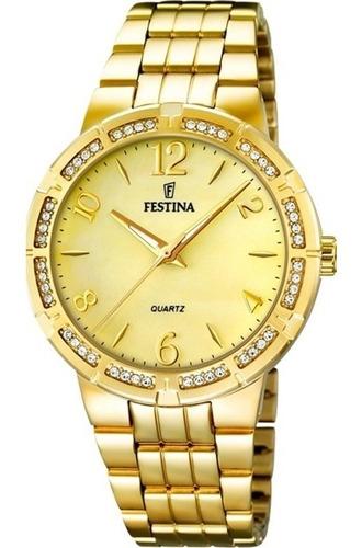 reloj mujer festina dorado f16704.2 garantía oficial