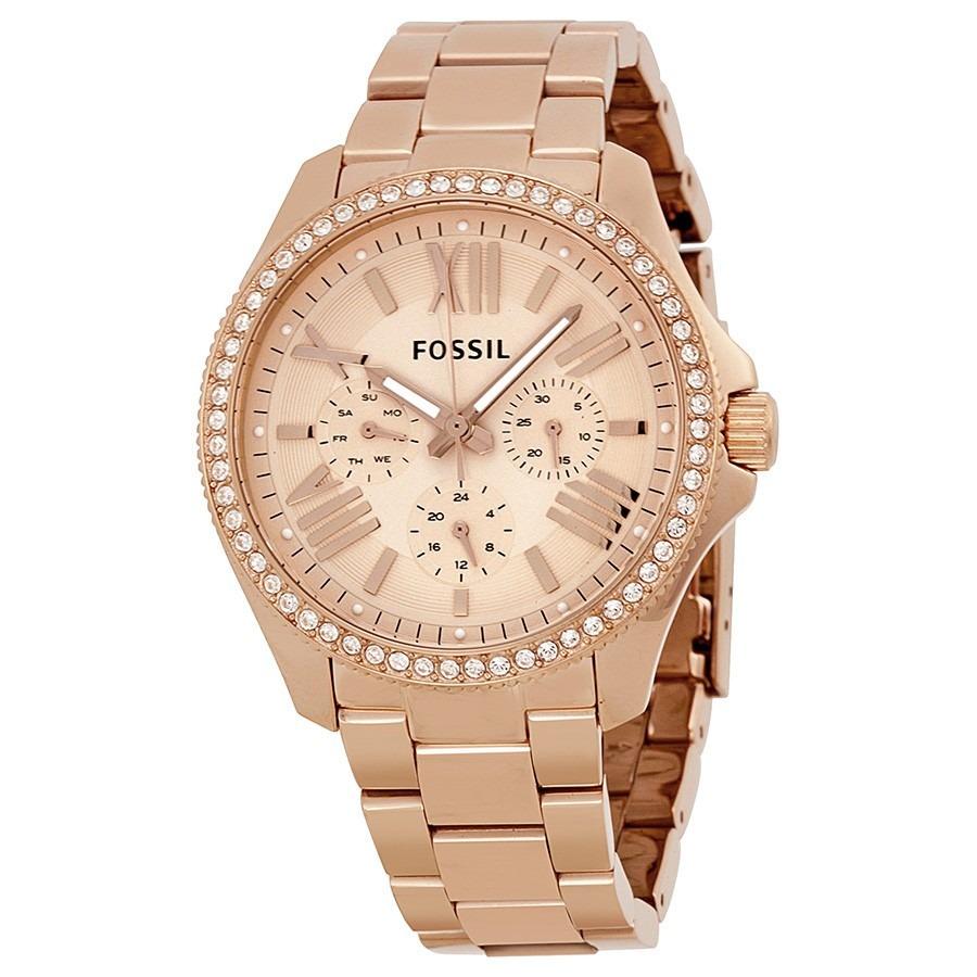 16595b354450 reloj mujer fossil am4483 multifuncion wr 100m dorado rose. Cargando zoom.