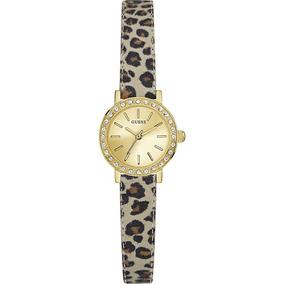c9fd5d79b220 Reloj Mujer Guess Animal Print Piel Genuina Original W0885l4