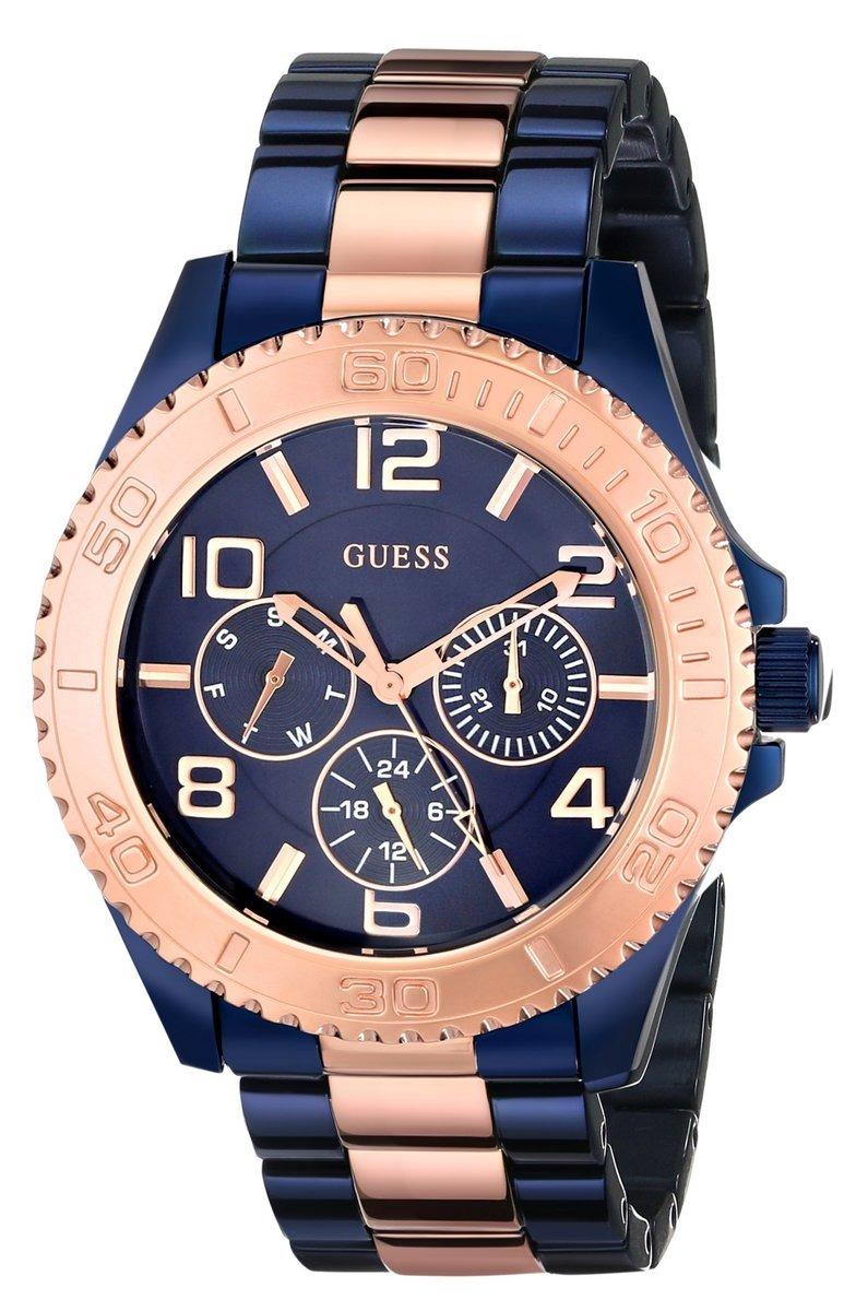 Acero Azul Dorado Y Reloj Bff Mujer Guess m8vwNn0