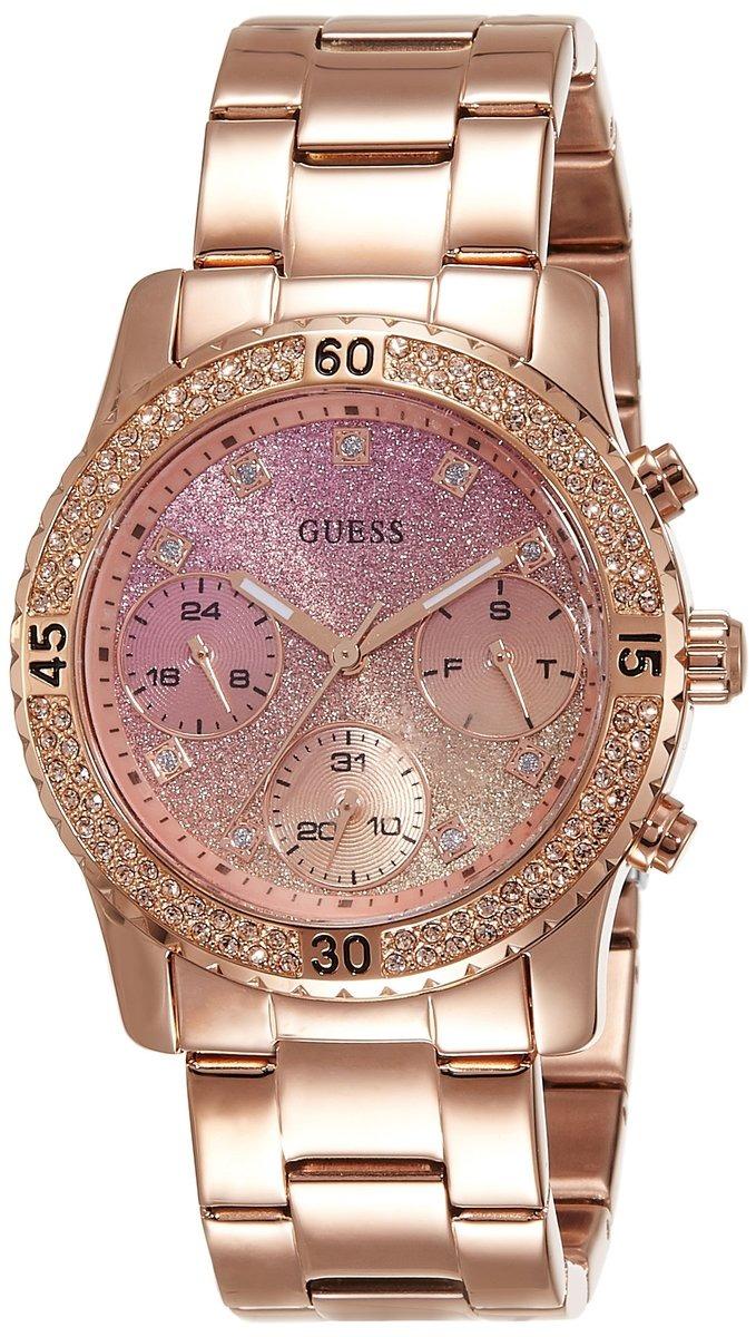 def3b00334dec Reloj Mujer Guess Confetti Acero Oro Rosa - S  628