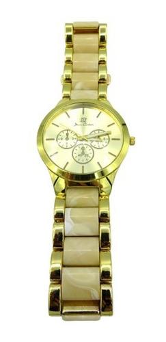 reloj mujer jean cartier fashon core (dorado).