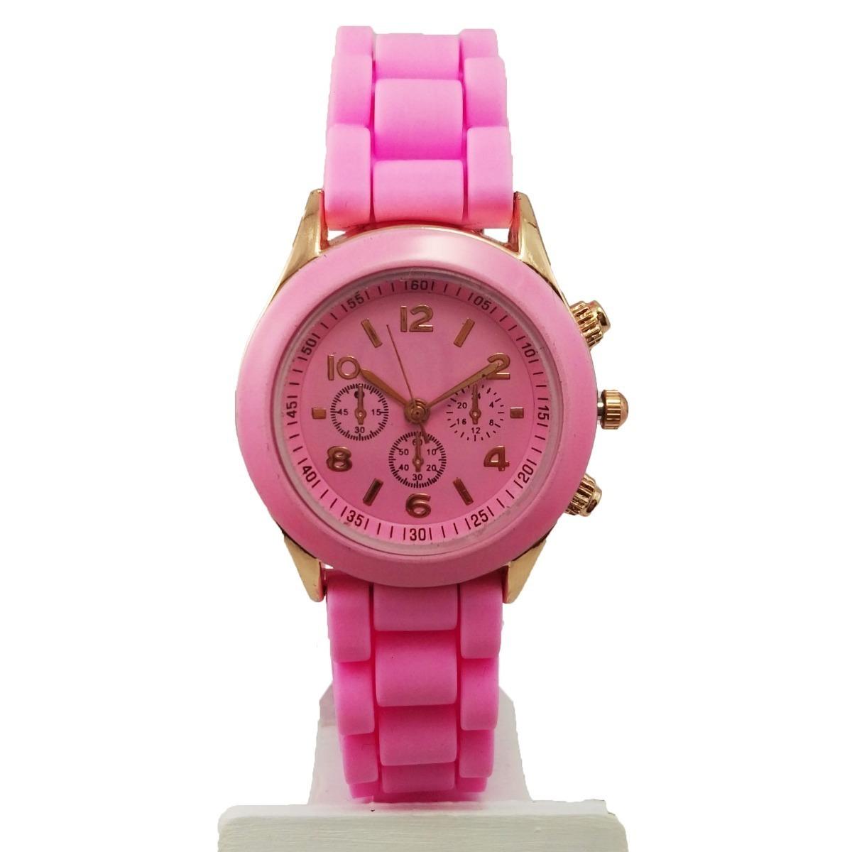 1782c886ee33 reloj mujer malla silicona detalles dorado. Cargando zoom.