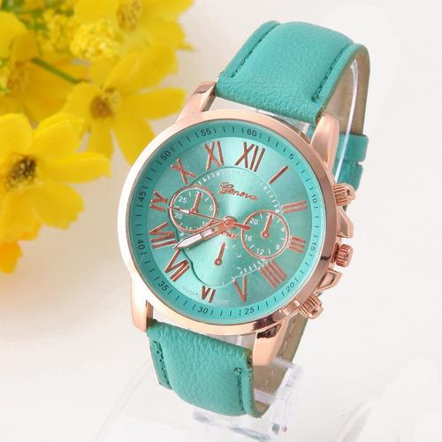 reloj mujer mayoreo geneva moda dama vintage a578 clasico