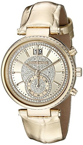 reloj mujer michael kors de mujer sawyer gold tone mk2444