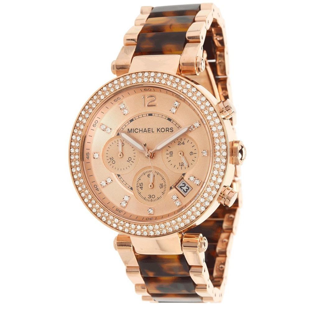 reloj mujer michael kors mk5538 oro rosa brillantes cuotas. Cargando zoom. e2a6b7db31bf
