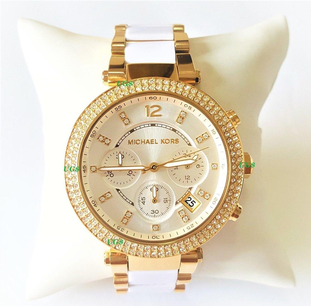 fb4cacfe588b reloj mujer michael kors parker oro blanco banda acetato bla. Cargando zoom.