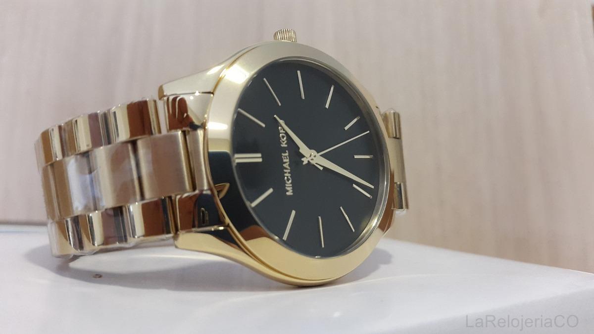 b187bf059cb9 Reloj Mujer Michael Kors Slim Runway Dorado Negro Mk3478 -   529.000 ...
