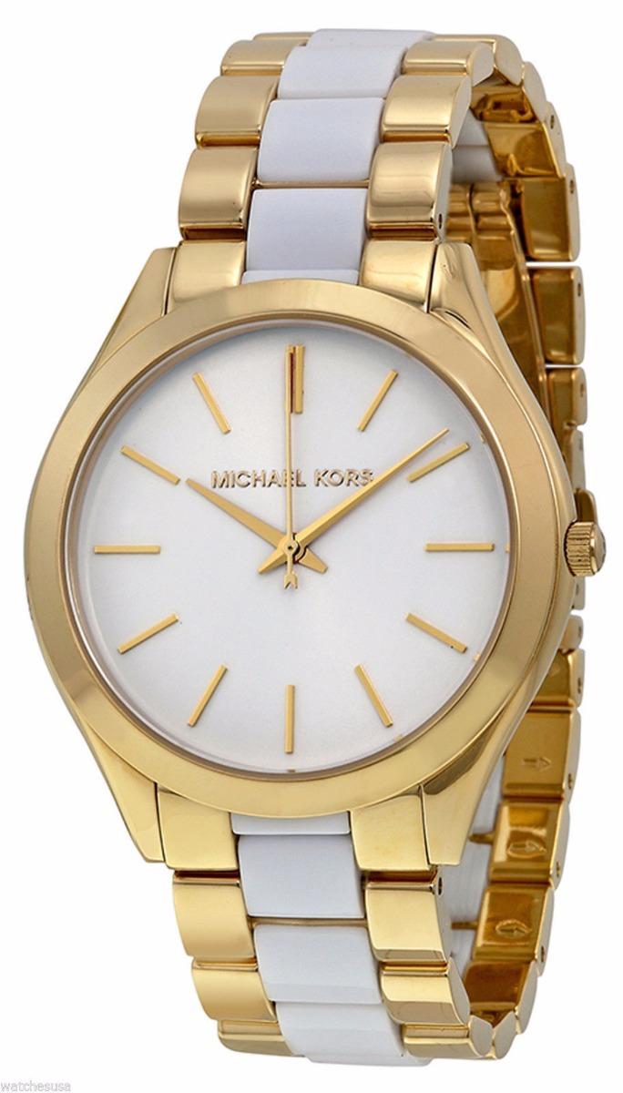 7652705602e6 Reloj Mujer Michael Kors Slim Runway Dorado Negro Mk4295 -   549.000 ...