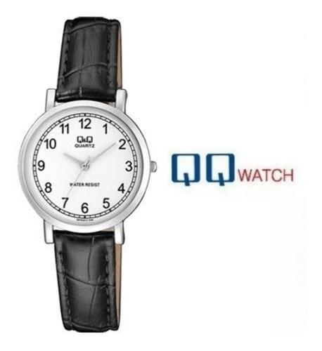reloj mujer original q&q correa cuero color rojo para regalo