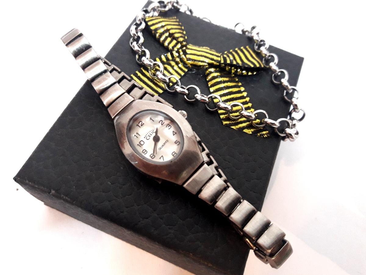 Reloj Mujer + Pulsera Acero Quirurgico Ideal P regalar Trf1 -   399 ... 61a07a909348