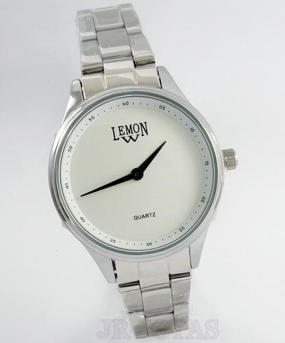 reloj mujer rose-plateado metal lemon l1473 l1474