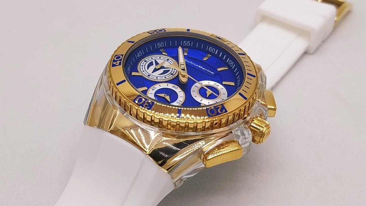 Reloj Mujer Technomarine Cruise Dorado Dial Azul 118135 ...