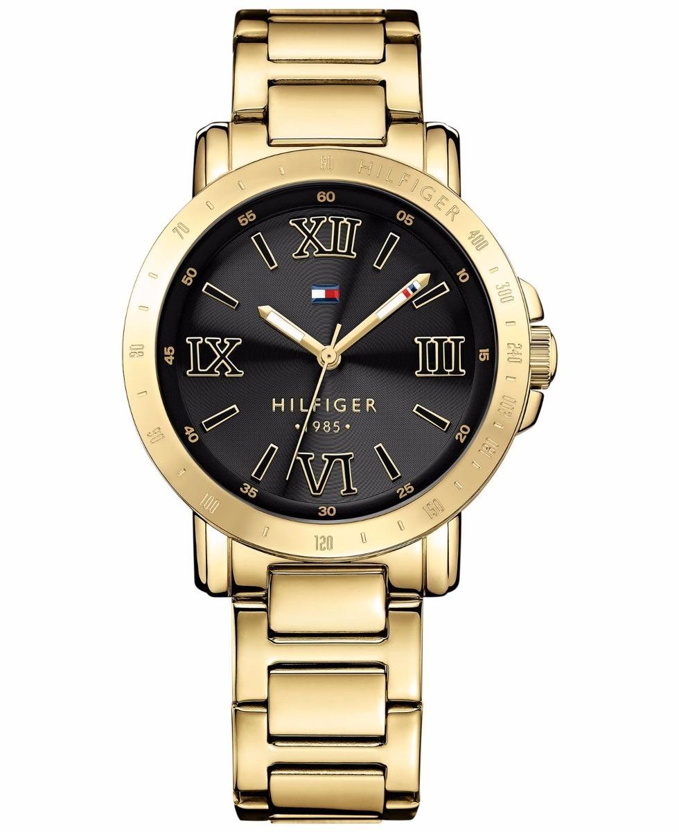 714ff3c3 Reloj Mujer Tommy Hilfiger Dorado Negro Ref 1781471 Original