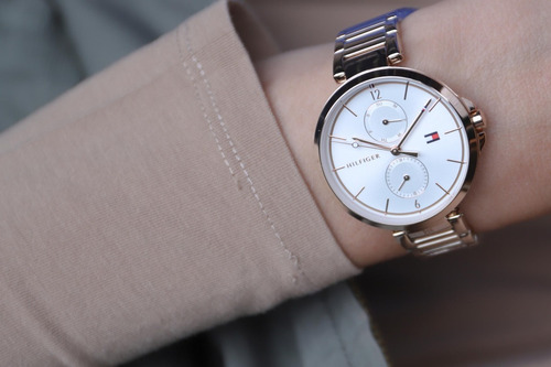 reloj mujer tommy hilfiger rosé moderno c calendario 1782124