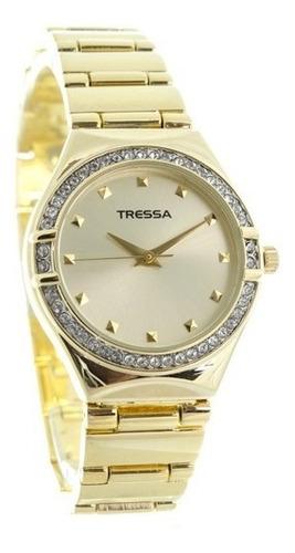 reloj mujer tressa con brillos modelo diamond