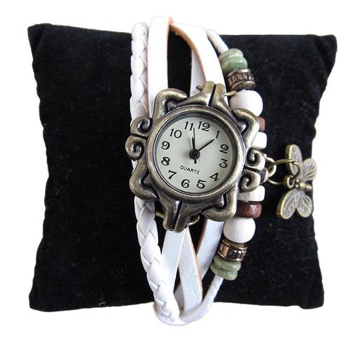 reloj mujer vintage pulseras eco cuero