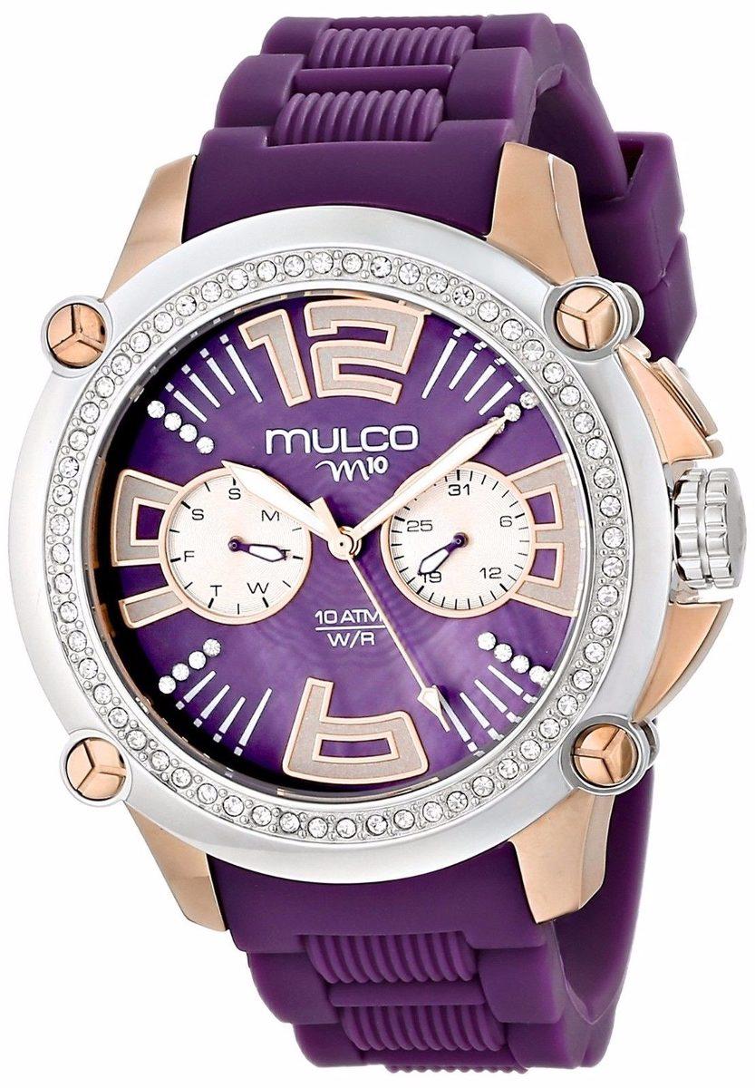 6ed59a0c36d2 reloj mulco acero silicón morado mujer mw228086s054. Cargando zoom.