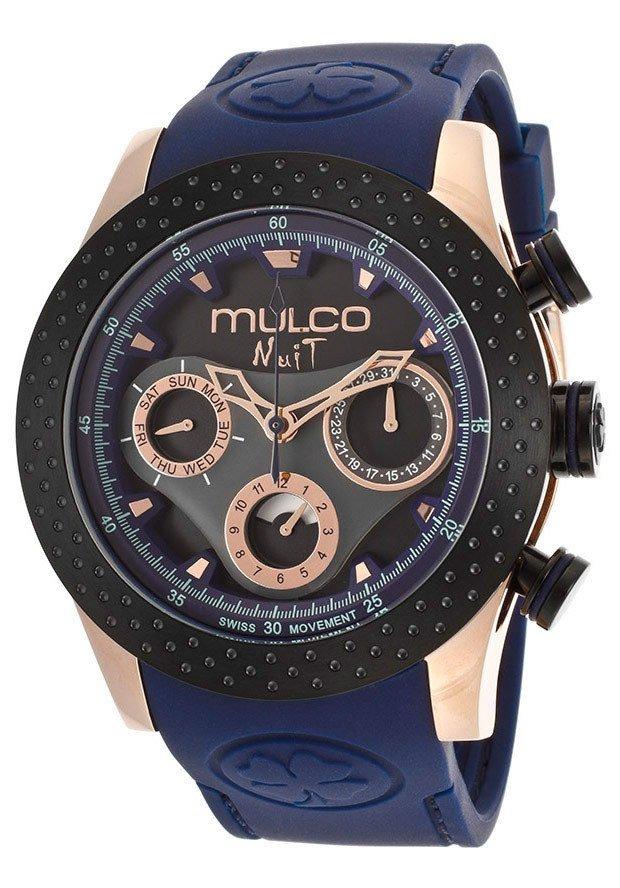 Reloj Mulco Nuit Black Dial Blue Silicone Hombre