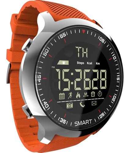 reloj naranja pulsera inteligente lokmat mk18 reloj deportiv
