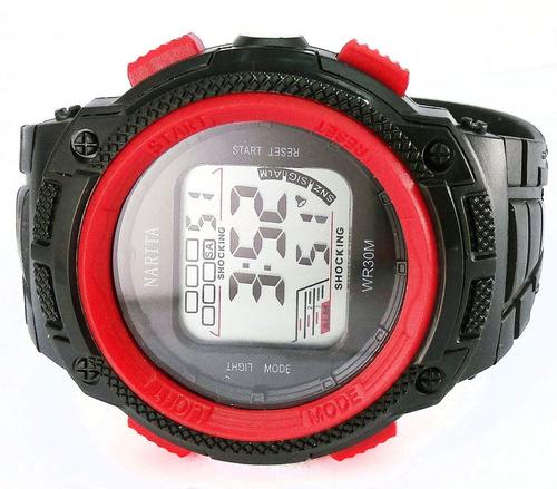 reloj narita sport watch cronómetro alarma promo, estuche y garantía oficial.