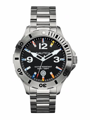 reloj nautica a15573g hombre wr 100m fechador envió gratis