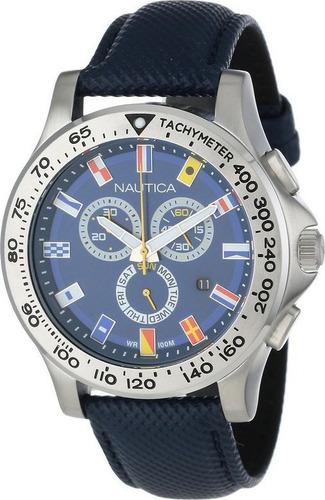 reloj nautica a19597g hombre cronografo, tachymeter + envió