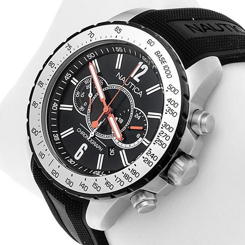 reloj nautica a19612g hombre crono + fechador + 100m + envio