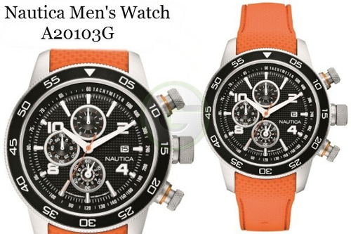 reloj nautica a20101g a20103g  crono 100m fechador