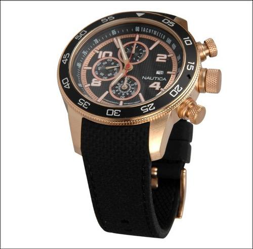 reloj nautica a24531g hombre cronografo, fechador, wr 100m