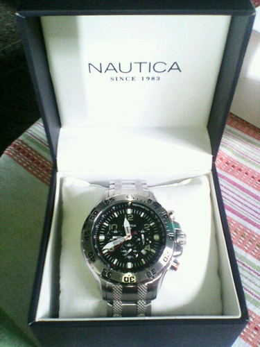 reloj náutica caballero (acero inoxidable)