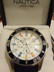 49ca8b0f4ab3 Reloj Nautica Para Hombre N17667g Nst 402 Azul Cronógrafo · Reloj Náutica  Caballero - Banderas