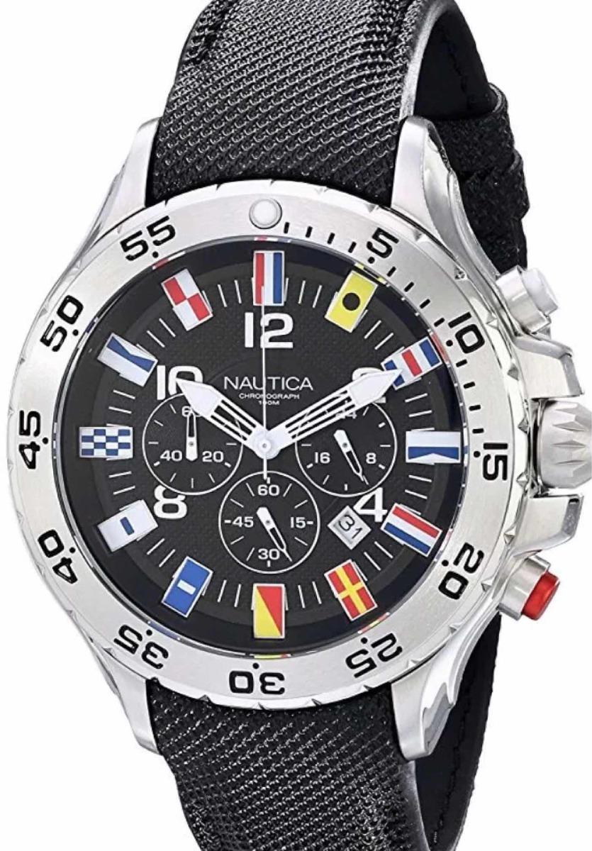 bfd74b9122f7 reloj nautica cronografo hombre n16553g sumergible 50mts. Cargando zoom.