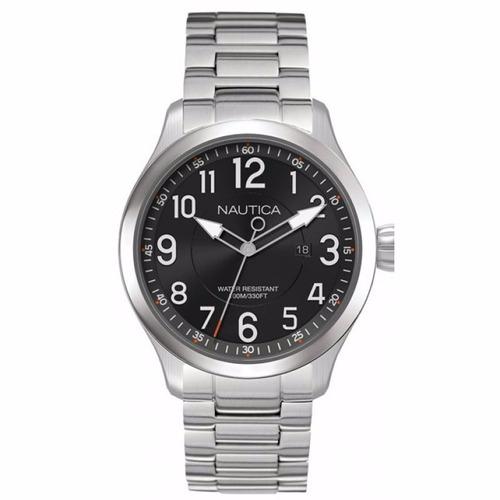 reloj nautica hombre acero negro tienda oficial nai12523g